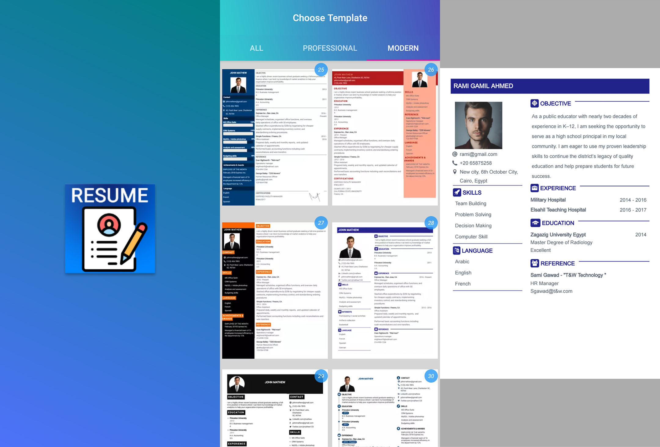 download resume builder app free cv maker cv templates 2020 latest version for android free